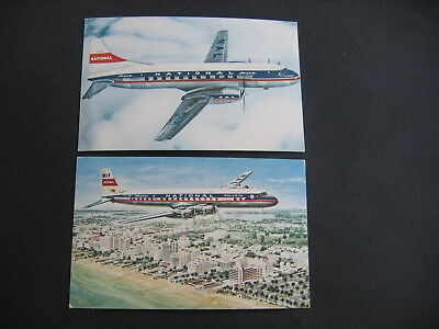 Postcards ( 2 ) National Airlines Aircraft Vintage Not posted
