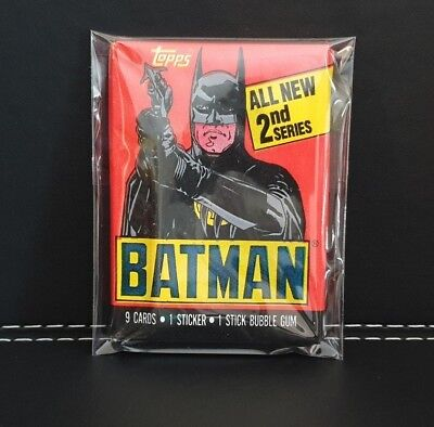 1980's Batman Collectible Cards Topps - 1 x Single Sealed Unopened Wax Pack