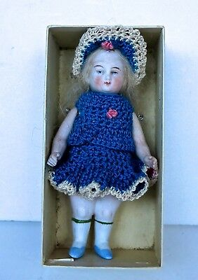 """Vintage Miniature German Doll 4"""" Marked 8003 In The Back."""