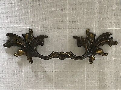 """Vintage Brass Drawer Pull French Provincial  3.5"""" Center 6.75 Long 10234"""