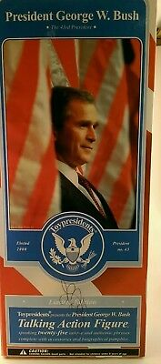 Toypresidents - George W. Bush Talking Action Figure With Pamplet and Stand