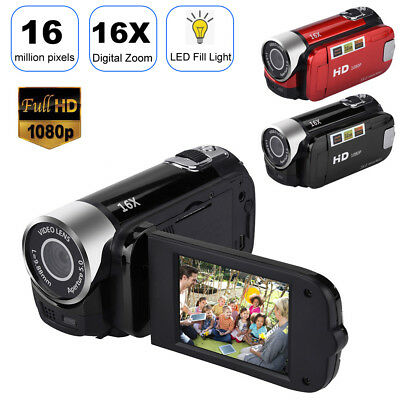 "FULL HD 1080P 16MP 2.7""LCD 16X ZOOM Digital Video DV Camera Camcorder US Plug"