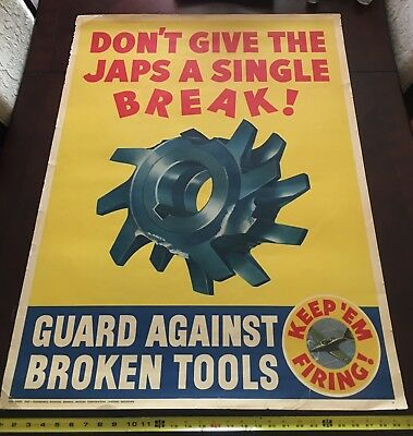 Vintage Original WWII WW2   Dont Give The Japs A Break *Tim Only