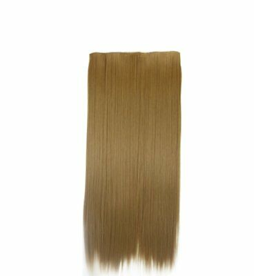 Coffee Brown Straight Hair Piece Extension Hidden Invisible Wire Piece Secret US