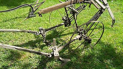 Horse Drawn Plow  -  Tlller CULTIVATOR Wood METAL Antique PRIMITIVE  -  Pick Up