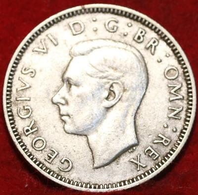 1940 Great Britain Shilling Silver Foreign Coin