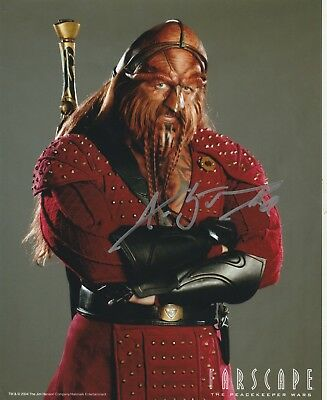 AUTOGRAPH 8x10 GLOSSY PHOTO FARSCAPE KA D'ARGO ANTHONY SIMCOE CERT AUTHENTICITY