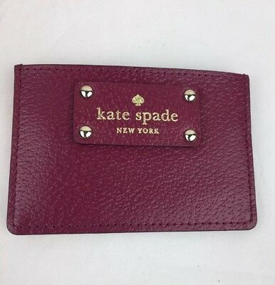NWT  Kate Spade New York Small Ladies Credit Card Holder WELLESLEY  Red Plum
