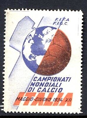 Italy Fascist Related Poster Stamp FIFA World Cup Soccer Calcio 1934
