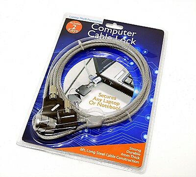 Laptop Computer Anti Theft Lock with 2 Keys 6ft Cable security
