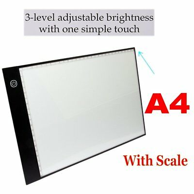 A4 HD LED Tracing Light Box Slim Pad Drawing Board 5D Diamond Painting Craft USA