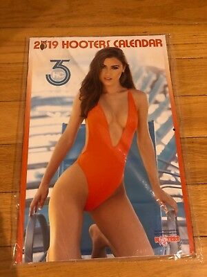 Hooters  2019 Calendar with Poster of Hooters South Florida Girls Sealed NEW