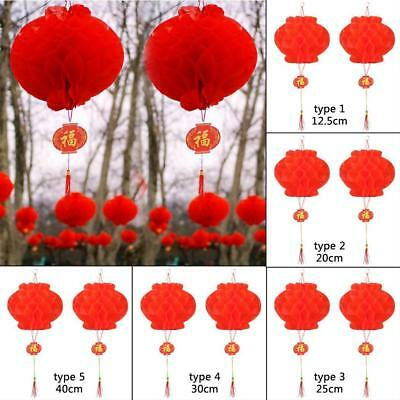 2pcs Chinese Red Lanterns For New Year Chinese Spring Festival Wedding ZHI4