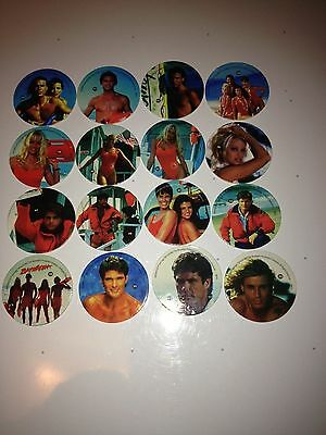 Baywatch pogs 125  all in mint condition mixed lot