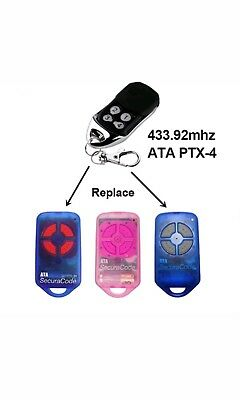 ATA PTX4 replacement garage door remote control BATTERY INCLUDED FREE DELIVERY