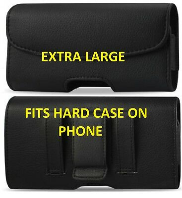 leather Belt Clip with Loop XL Horizontal Leather Holster Carrying case Holder