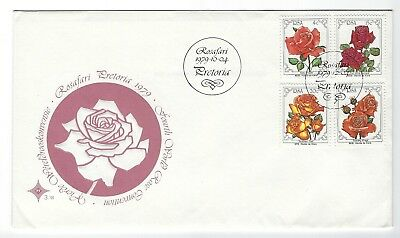 SOUTH AFRICA 1979 FIRST DAY COVER -  1979 Rosafari SA Rose Convention