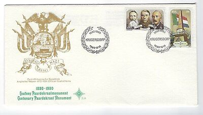 SOUTH AFRICA 1980 FIRST DAY COVER - Paardekraal Monument 100 years