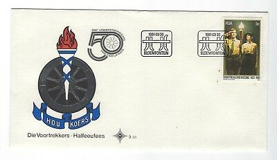 SOUTH AFRICA 1981 FIRST DAY COVER - Voortrekkers 50 years