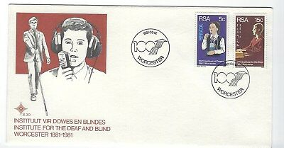 SOUTH AFRICA 1981 FIRST DAY COVER - Institute for Deaf + Blind 100 years