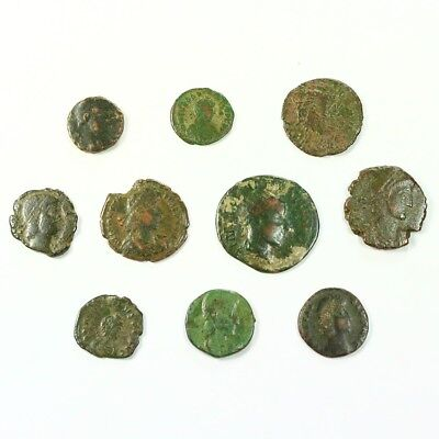 Ten (10) Nicer Ancient Roman Coins c. 100 - 375 A.D. Exact Lot Shown rm3510