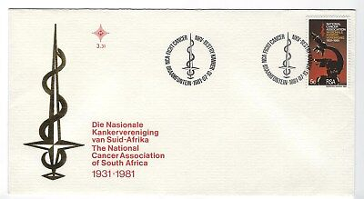 SOUTH AFRICA 1981 FIRST DAY COVER - National Cancer Association 50 years