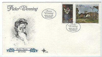 SOUTH AFRICA 1980 FIRST DAY COVER - 1980 Peter Wenning (artist)