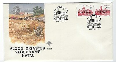 SOUTH AFRICA 1987 FIRST DAY COVER - Natal Flood Disaster #2