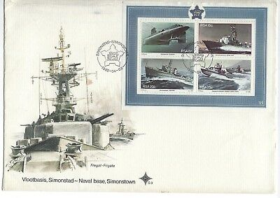 SOUTH AFRICA 1982 FIRST DAY COVER - Simonstown Naval Base - Mini Sheet