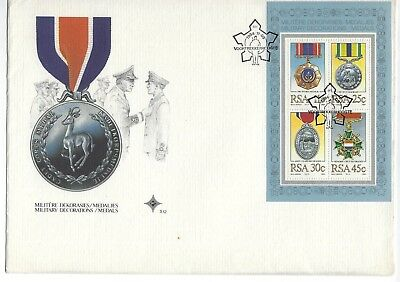 SOUTH AFRICA 1984 FIRST DAY COVER – Military Medals, Mini sheet
