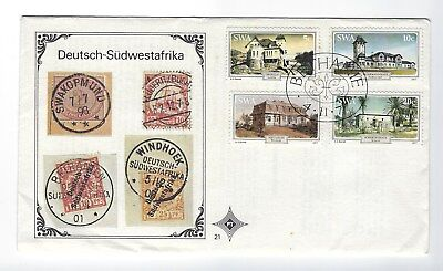 SOUTH AFRICA 1977 FIRST DAY COVER – 1977 SWA Historical Houses of SWA