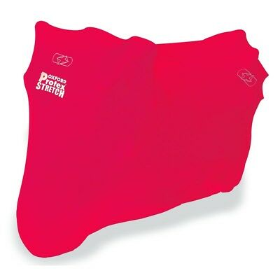 Protex stretch indoor motorcycle cover - colour RED - Size L OXFORD Motorcycle C