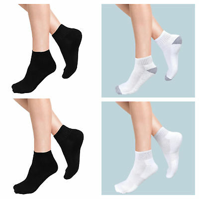 12x pairs Ankle Socks Men Women Liner Cotton Sports Fashion Size UK 4-7 & 6-11