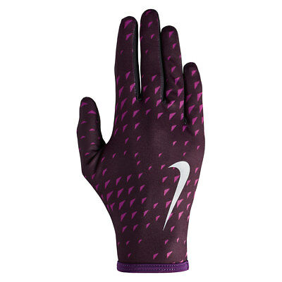 Nike Women's Therma Fit Rival Running Fitness Training Gloves - Port Wine Berry
