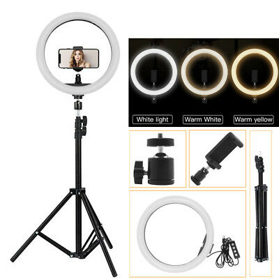 12'' Studio LED Photo Video Ring Light Dimmable+ Camera iPhone Holder+2M Stand