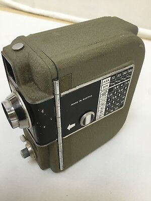 Vintage Eumig Electric 8Mm Hand Held Cine Camera & Leather Case