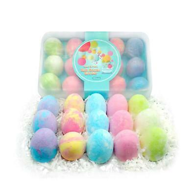 15Pack Bath Bombs Gift Set for Kids with Natural Ingredients,Colorfull Egg Shape