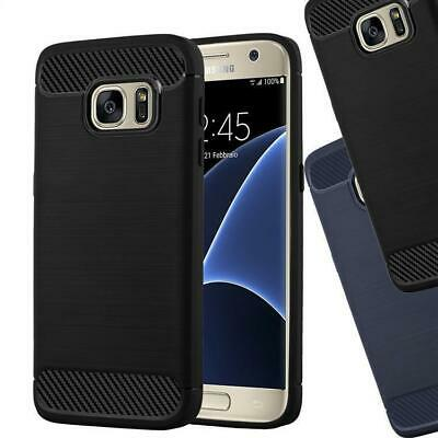 Cover for Samsung Galaxy Protection Case CARBON LOOK Bumper Silicone TPU