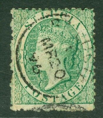 SG 8 St Lucia 1863 (6d) emerald-green. Very fine used CAT £225