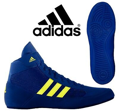 adidas Havoc Kids Boxing Boots Boys Wrestling Trainers Blue Sneakers CLEARANCE