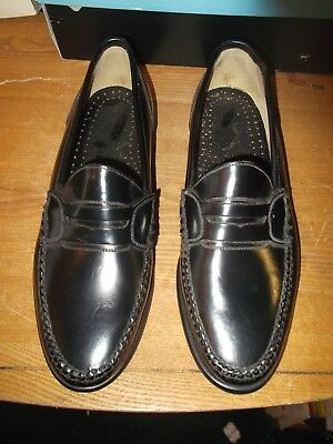 Bass Andrew Penny Loafer Black Leather Mens Shoes Size 91/2 Medium  9.5