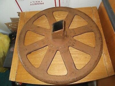 Vintage Cast Iron Base / Stand / Post -- Narragansett Machine Co