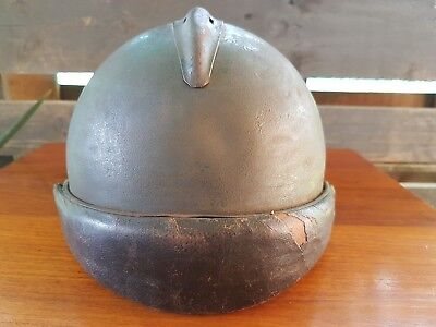 343r  FRENCH WW2 M45 HELMET,  COMPLETE W/LINER & CHINSTRAP