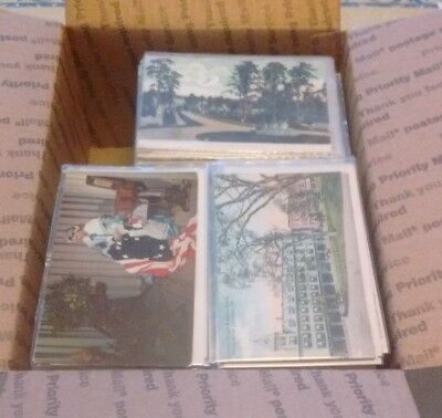 FREE SHIPPING Box Lot Postcards 300 standard US only clean no dups no foreign