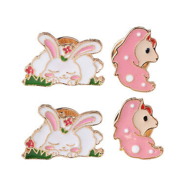 Butterfly Clutch Badge Pin Backs Fashion Lapel Pin Cartoon Horse Rabbit