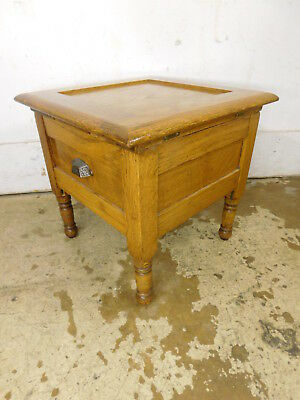 Antique 1890s Solid Oak Port o Potty Training Smaller Under the Bed Chamber Pot