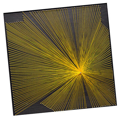 DIY String Art Starter Kits Yellow Aurora - All Supplies Included 40x40cm