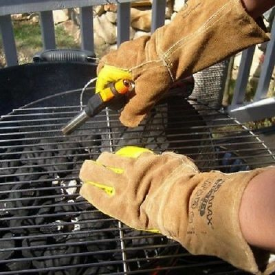 HandMax Hestia / Multi-Faceted Cow Leather Gloves Welding Fire Barbecue_NK