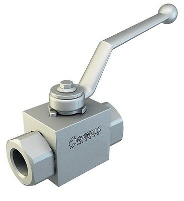 """hydraulic high pressure 2 way stainless steel ball valve 3/8"""" BSPP 7250psi"""
