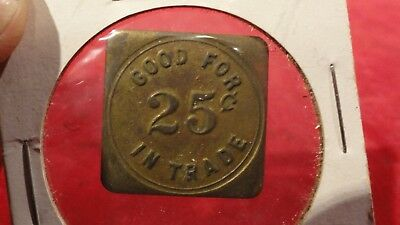 Great Antique Politician Square Token -Good Luck - Idc -12Th Ward